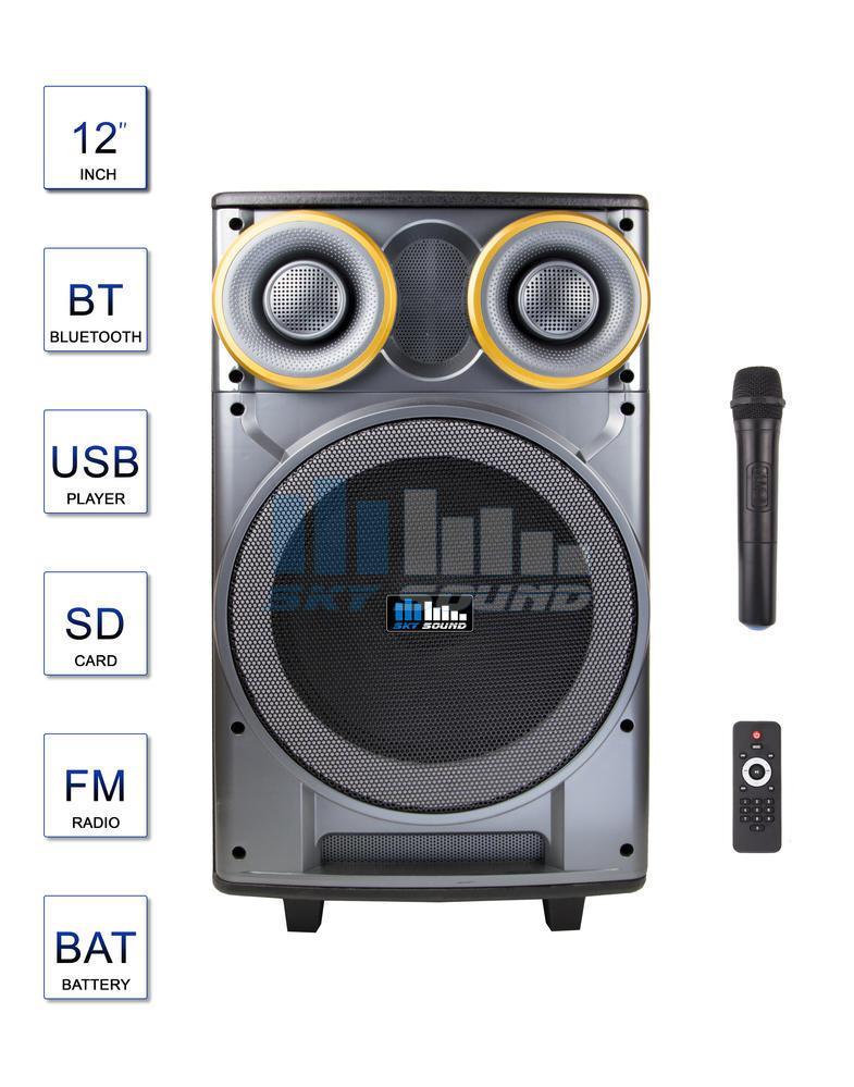 Автономная акустическая система с одним ручным радио микрофоном Sky Sound SPA-12 (200/400Вт)