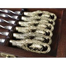 """Комплект шампуров """"Кабан """" с разборным мангалом в кейсе из натурального дерева, фото 2"""