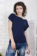 Однотонная женская футболка