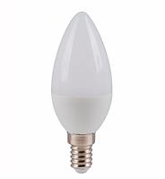 Лампа  LED Свеча 5W 220V 4100K E14 матовая