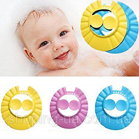 Козырек шапочка для мытья головы с защитой для ушей 7064