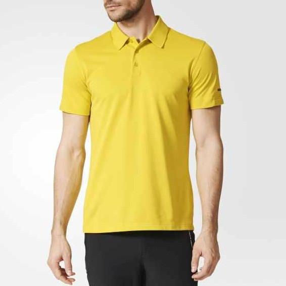 Футболка поло спортивная, мужская Adidas Porsche Design Super Yellow | AI1587 адидас