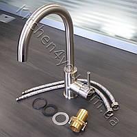 Однорычажный кухонный смеситель AquaSanita Sabia 5523.002 никель, фото 1