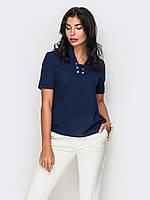 XS, S, M, L, XL / Женская легкая блузка Bony, синий XS