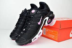 Женские кроссовки Nike TN Plus, черный + розовый
