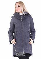 Шерстяное пальто полуприталеного силуэта Грейс Джинс (шерсть) V-g