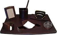 Кожаный настольный набор для руководителя 1008-S1 Коричневый