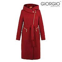 Пальто женское К-134. Цвет: бордо.