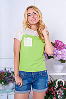 "Блуза ""Эмили"" (салат), фото 1"