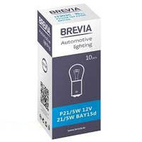 Лампа BREVIA 2- контакта 12V 21/5W BAY15d (шт.)