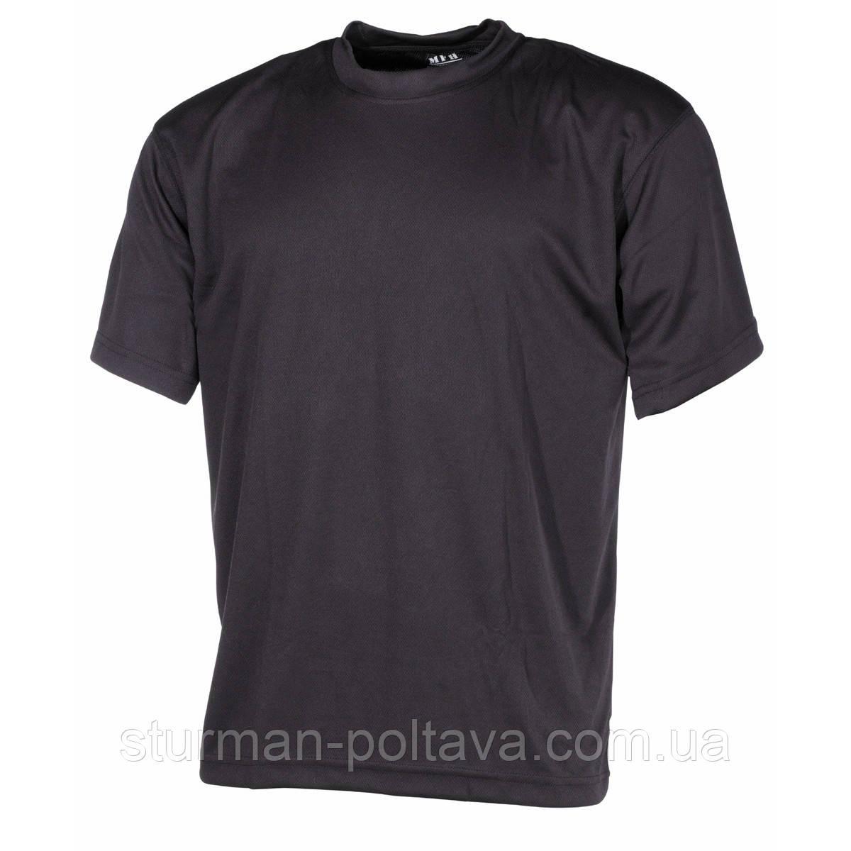 Футболка мужская  потовыводящая цвет чёрный   полиестер  MFH  Германия