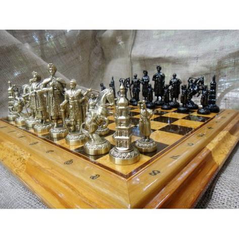 Набор шахмат, доска из дерева, фигурки бронзовые, фото 2