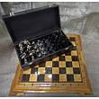 Набор шахмат, доска из дерева, фигурки бронзовые, фото 3