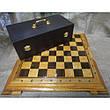 Набор шахмат, доска из дерева, фигурки бронзовые, фото 4