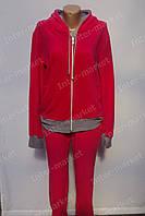 Красива жіноча піжама микрофлис червона оптом і роздріб