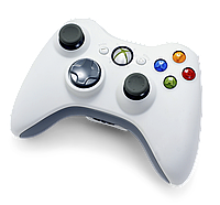 Джойстик 360 (XBOX) беспроводной Xbox 360 белый