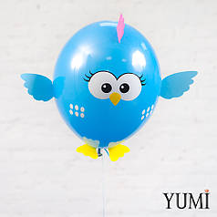 Гелиевый шарик птичка с декором для ребенка