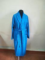 Махровый мужской халат голубого цвета (XL), фото 1