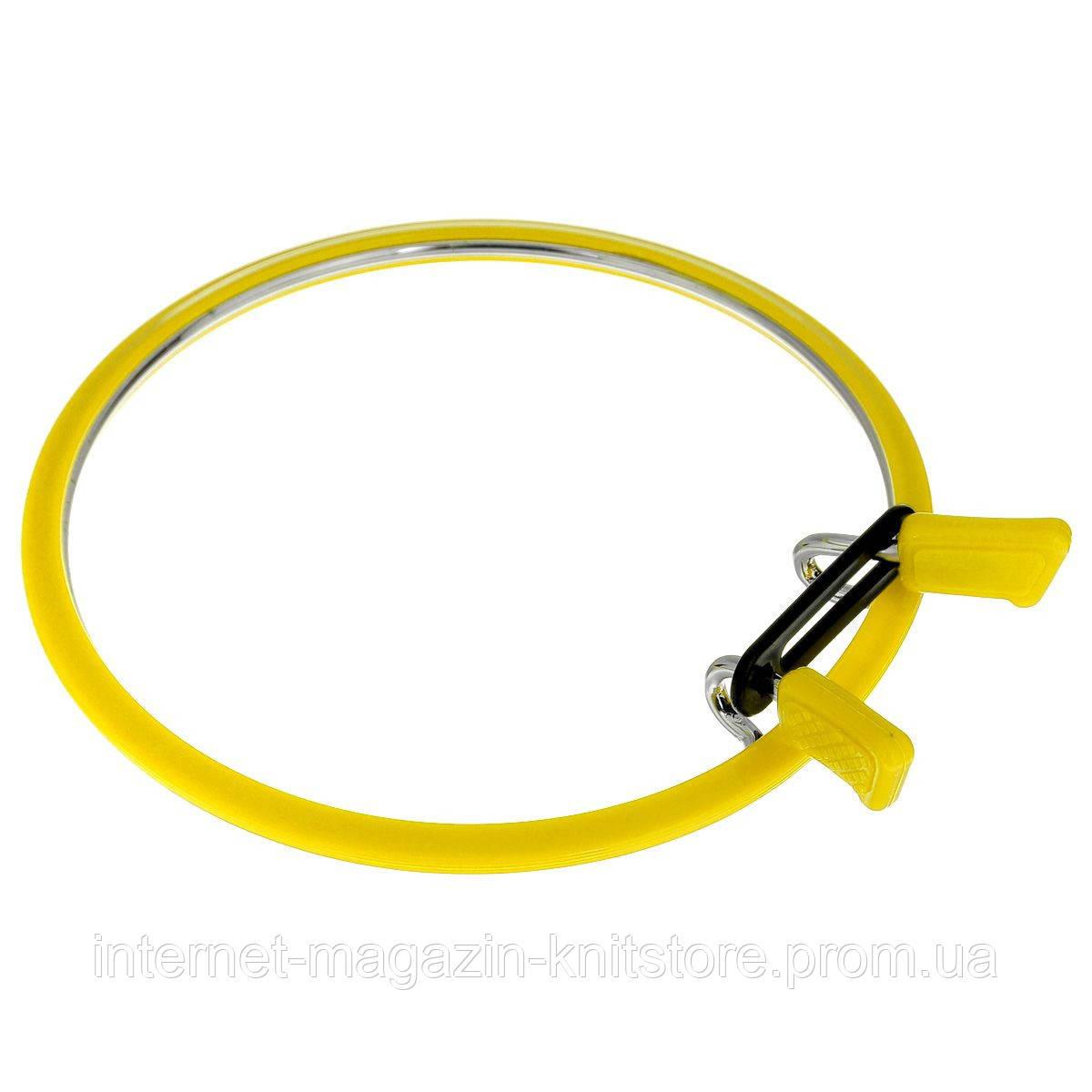 Пяльцы металлические Nurge  Ø 195 мм желтый