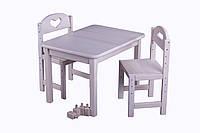 Комплект Растишка стол 50*60 и стулья выбел. дерево
