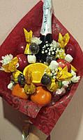 Фруктово-цветочный букет с шампанским. Запорожье
