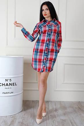 d3855f9567c Универсальная красивая длинная хлопковая рубашка в клетку  продажа ...