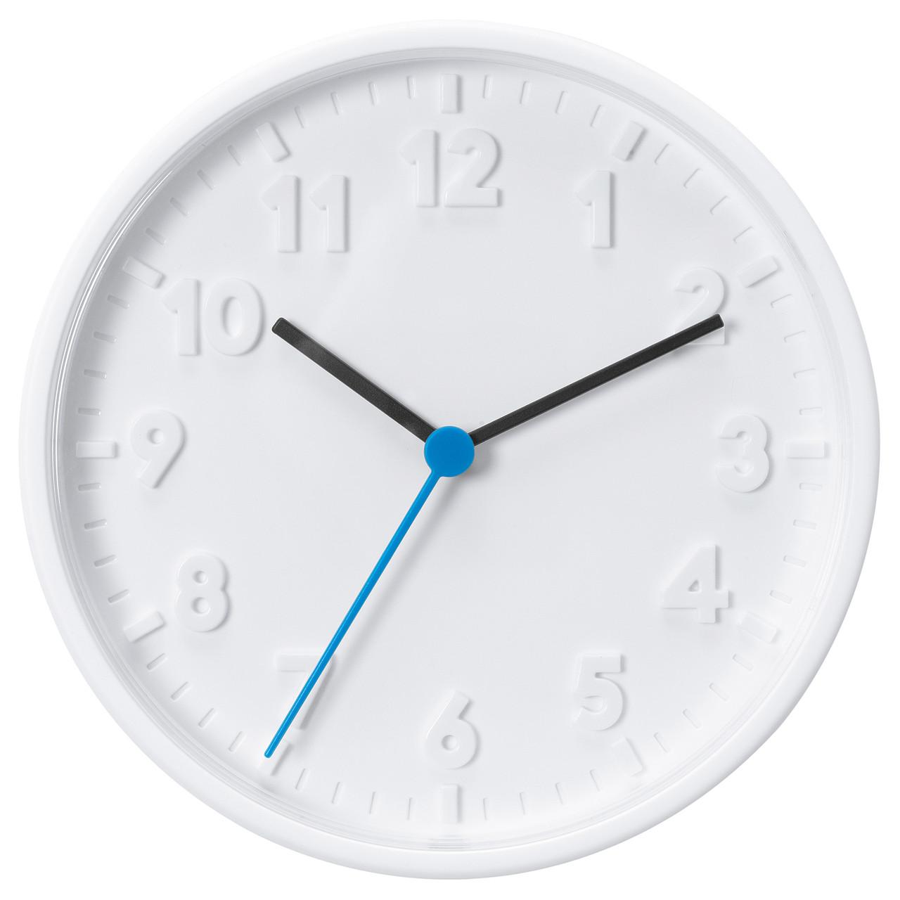 """ИКЕА """"СТОММА"""" Часы настенные, белые, 20 см."""