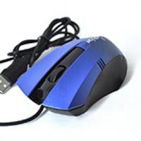 Мышь USB Merlion MS-Angled, длина кабеля 115см, 2 кнопки+scroll, (115х70х40 мм), Black/Blue, Q100
