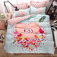 Уценка (дефекты)! Комплект постельного белья Kiss (полуторный) Berni