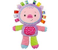 Мягкая игрушка - погремушка Поросенок Happy Monkey