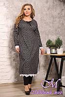 Женская длинная туника-платье большого размера (р. 48-90) арт. Ренальдо