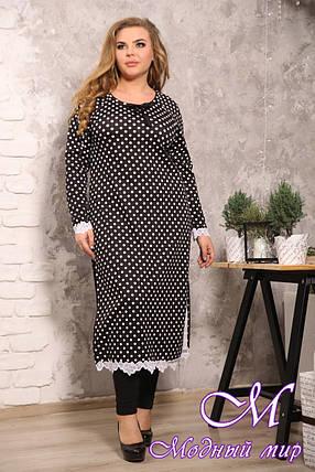 Женская длинная туника-платье большого размера (р. 48-90) арт. Ренальдо, фото 2
