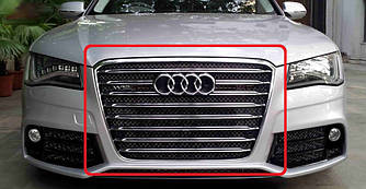 Решетка тюнинг Audi A8 D4 стиль W12 (с Night Vision)