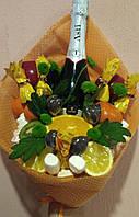 Сладкий букет Фруктово-цветочный букет с шампанским. Запорожье
