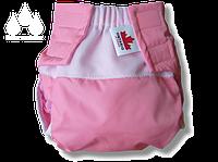 Комплект: многоразовый подгузник Waterproof + 3 вкладыша от 6 до 12 мес. розовый