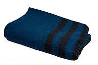 Одеяло армейское п / ш (70%) 140х205 синее с черн. полосками (650 гр)