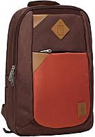 Украина Рюкзак Bagland Baretti 14 л. коричневий/кирпич (0011866), фото 1