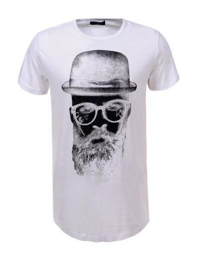 Мужская футболка  GLO-STORY AS18 MPO-5398 белая