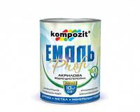 Эмаль акриловая PROFI Kompozit белая глянцевая, 10 л