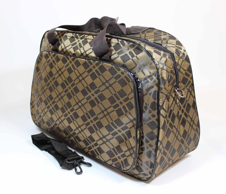 046c64ec8b26 Купить Сумка дорожная тканевая коричневого цвета  по недорогой цене ...