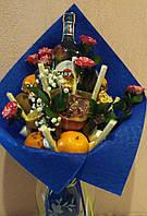 Фруктово-цветочный букет с Мартини. Сладкий букет Запорожье