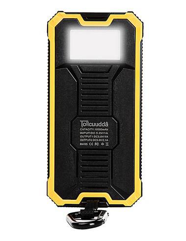 Акумулятор вологостійкий Power bank TL-10WPD Tollcuudda 10000 mAh з сонячною панеллю, ліхтарем, жовтий