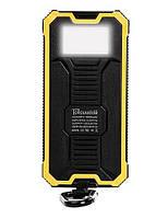 Акумулятор вологостійкий Power bank TL-10WPD Tollcuudda 10000 mAh з сонячною панеллю, ліхтарем, жовтий, фото 1