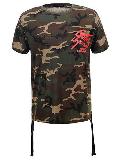 Мужская футболка  GLO-STORY AS18 MPO-5503 камуфляж