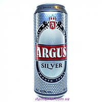 Пиво Аргус Силвер Agrus Silver, светлое, 4% алк. 0,5л