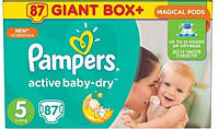 Подгузники Pampers Active Baby-Dry Junior 5 (11-18кг), 87шт MEGA PACK