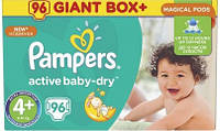 Подгузники Pampers Active Baby-Dry Maxi+ 4+ (9-16кг), 96шт MEGA PACK