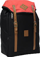 Украина Городской рюкзак Bagland Successful 17 л. Чёрный/красный (0050466), фото 1
