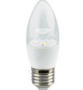 Лампа  LED Свеча 7W 220V 3000K E27 прозрачная