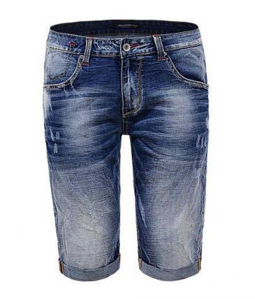 Мужские джинсовые шорты Glo-Story SP18 MMK 6264 синие низкие, фото 2